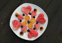 Watermelon and blueberries on a plate